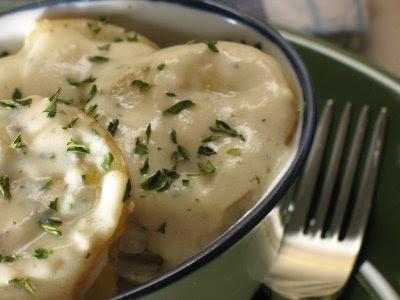 creamy herb scalloped potatoes