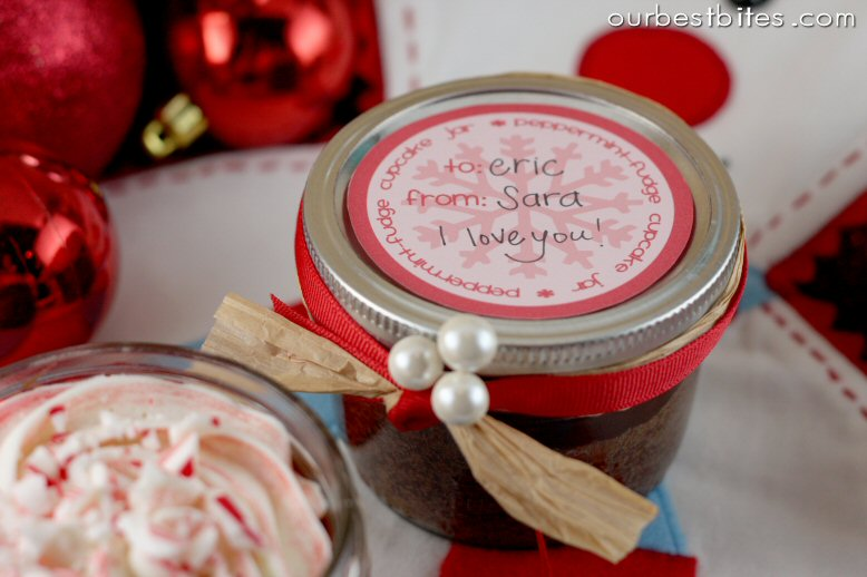 Peppermint Fudge Cupcake Jars Striped Frosting Tutorial Our Best Bites