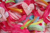 Weekend Crafting: Valentine Heart & Ribbon Garland