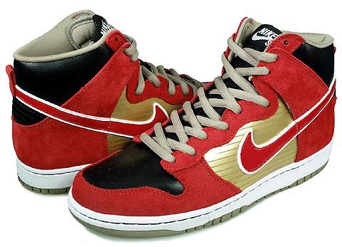 SoleSurvivor Detroit  Nike SB Dunk High QS Metallic Gold Sport Red Black 6f03d1fef