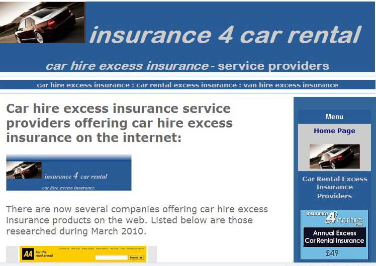 Travel Insurance With Car Hire Excess Waiver