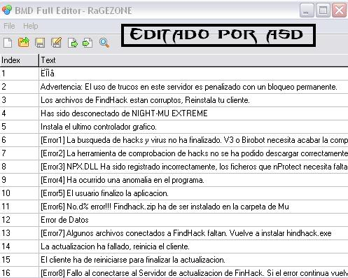 Traduciendo archivo bmd
