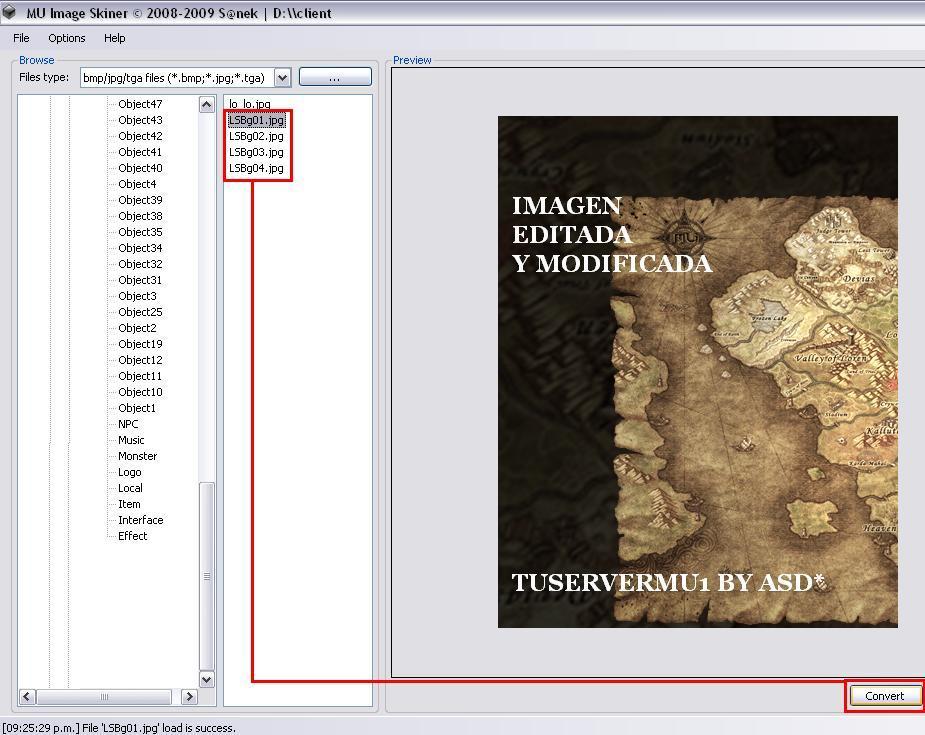 Archivos convertidos de jpg a ozj