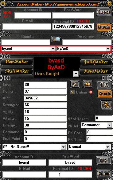 Interfaz del MuMaker