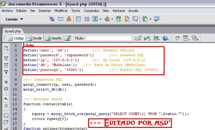 Configurando la conexión a SQL