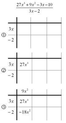 mathrecreation dividing polynomials the grid method. Black Bedroom Furniture Sets. Home Design Ideas