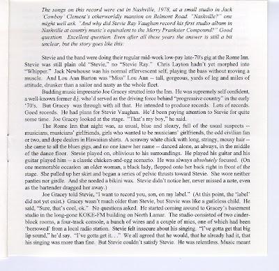 la musica de Abel ,Johnny,Clara y Cia: Stevie Ray Vaughan ...  Stevie Ray Vaughan Unreleased 1st Album