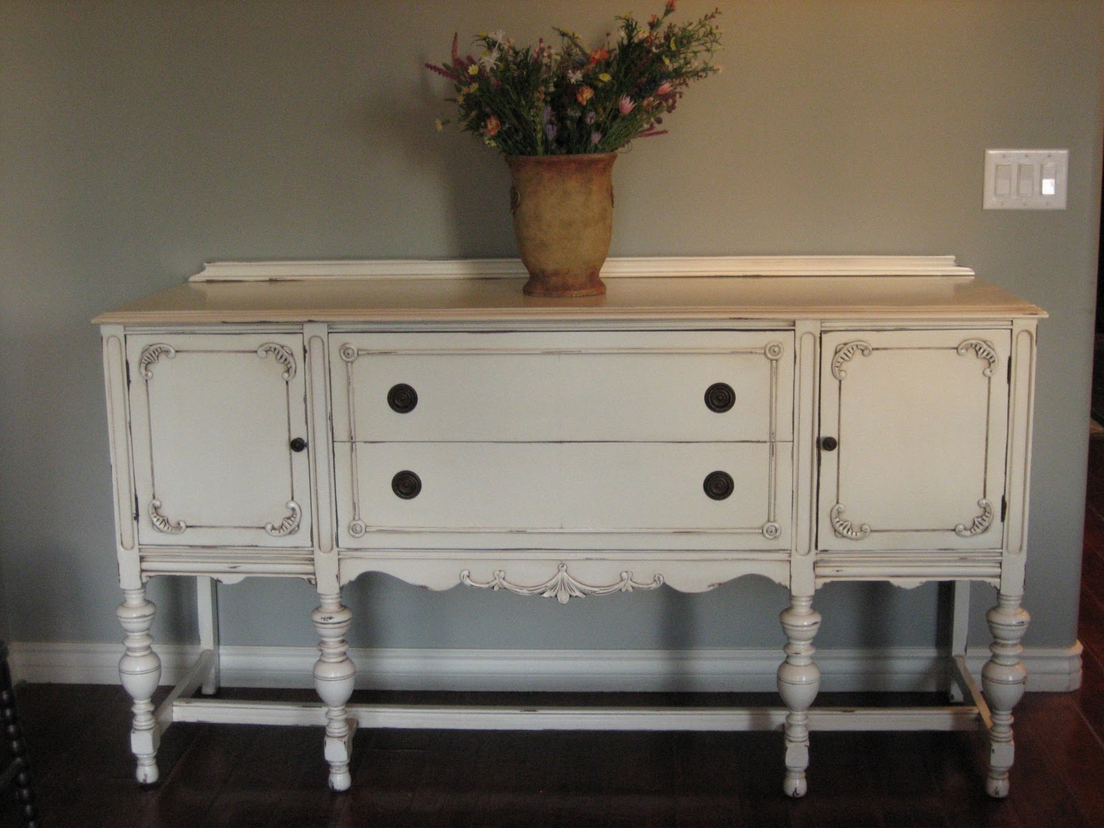 Sideboard Vintage European Paint Finishes Another Pretty Antique Sideboard