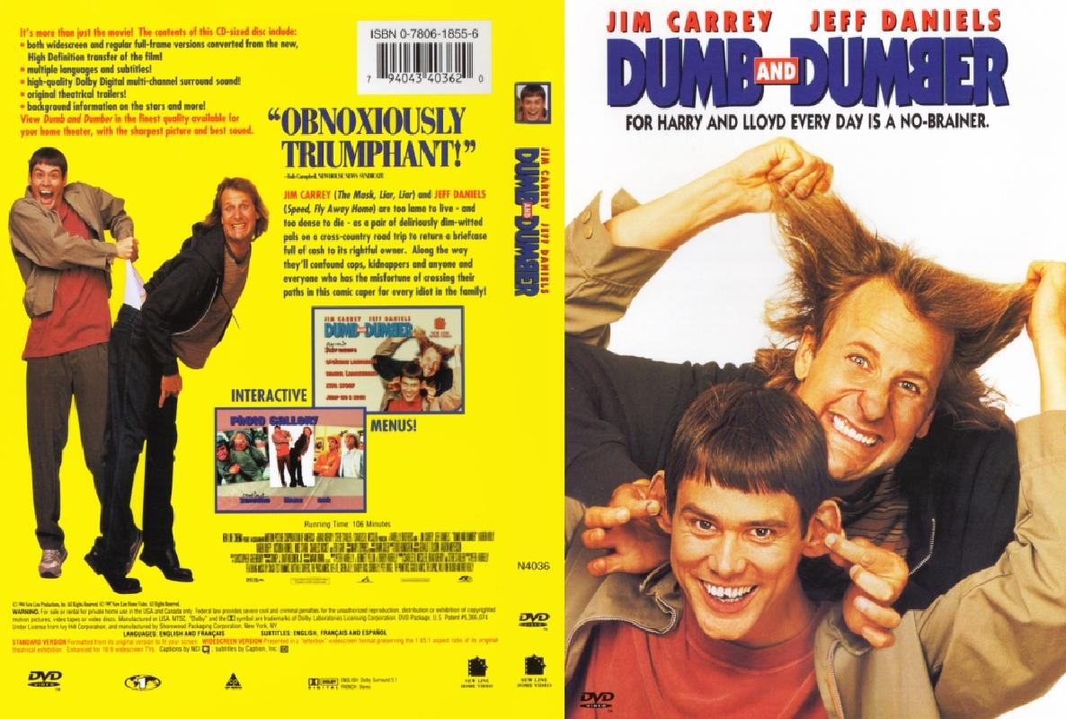 Dumb And Dumber 1994 Dvd Cover