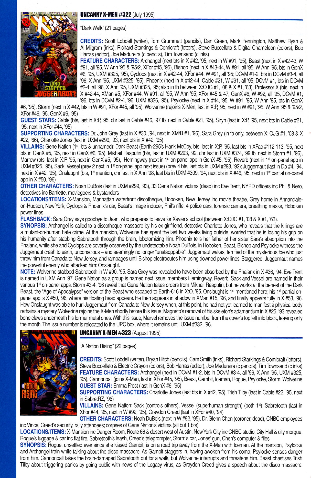 Read online Official Index to the Marvel Universe comic -  Issue #8 - 58