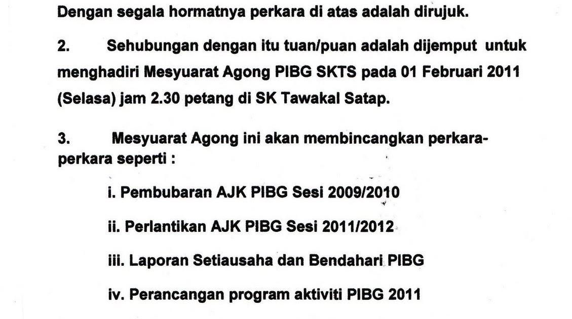 SK Tawakal Satap: Mesyuarat Agung PIBG 2011