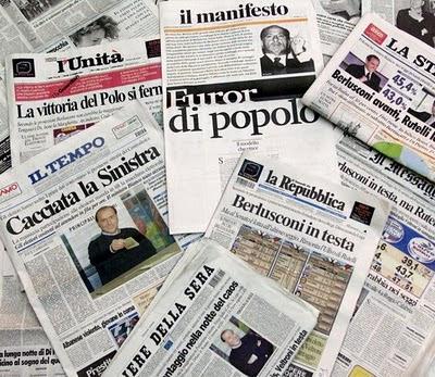 Tutti i principali Giornali Italiani: Quotidiani Nazionali, Settimanali, Bisettimanali, Mensili.