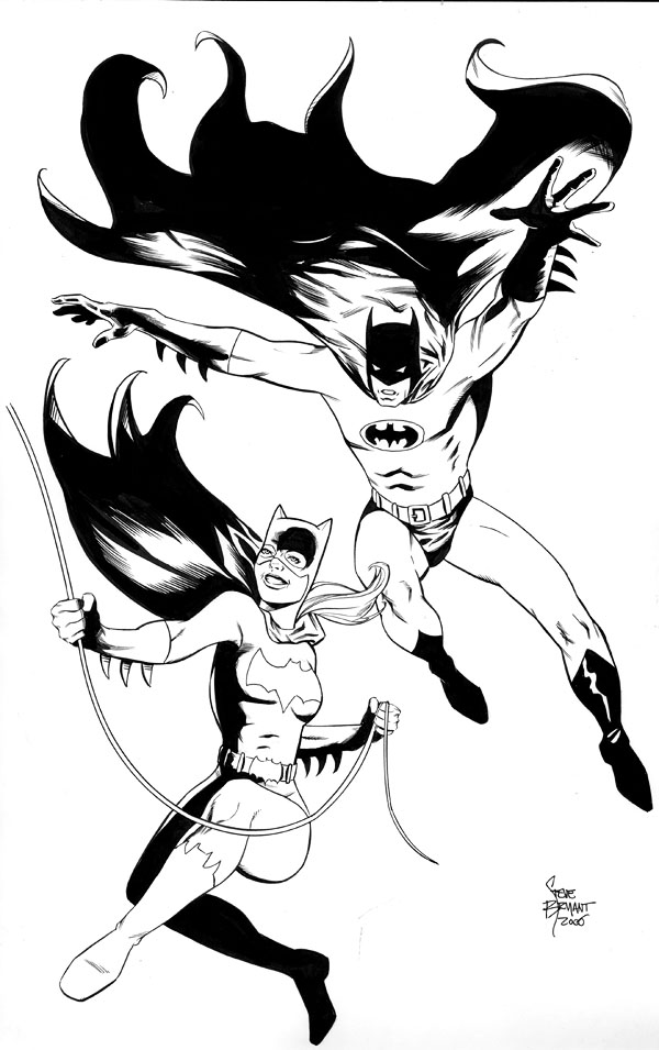 batman and batgirl coloring pages | Favorite Fiction: Grudge Match - Cyclops and Emma Frost vs ...