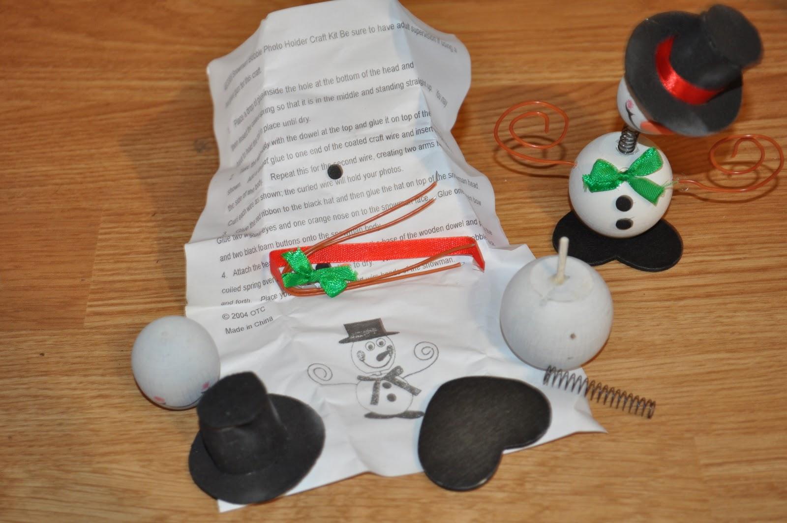 Snowman Bobble Photo Holder Craft Kit