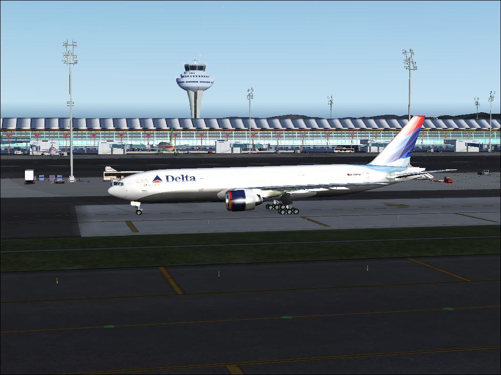 FRSimscreens: [FSX] Delta Airlines in Madrid-Barajas