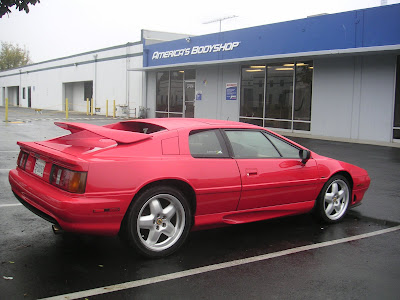 Lotus Esprit S4 painted at Almost Everything Autobody