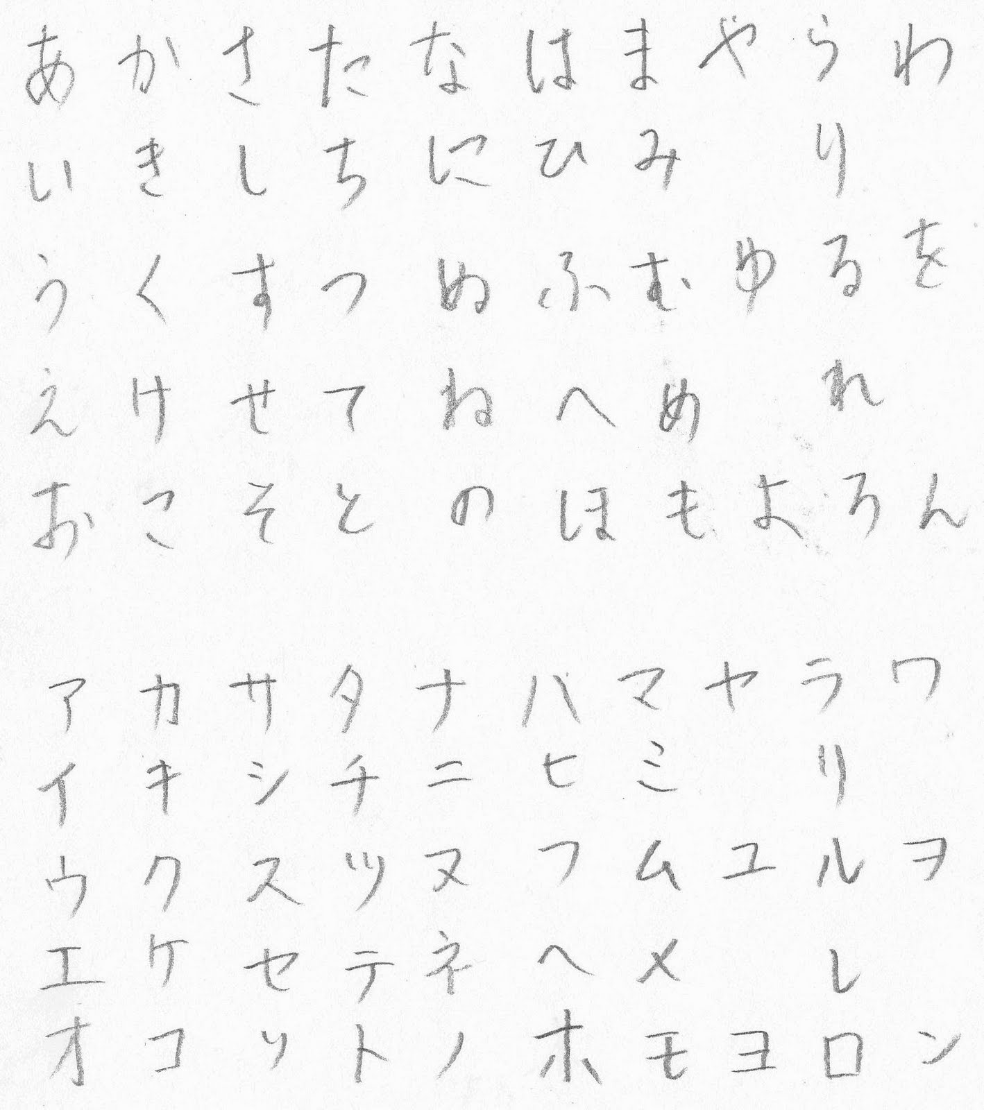 Hiragana Handwriting: Majestic Jester's Wonderbloggium: How To Write Japanese Neatly