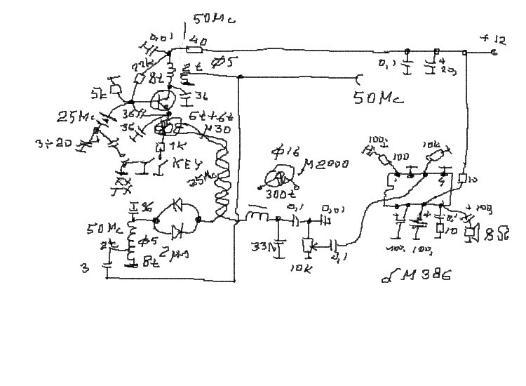 LY3LP laboratory: 50 MHz low power TRX