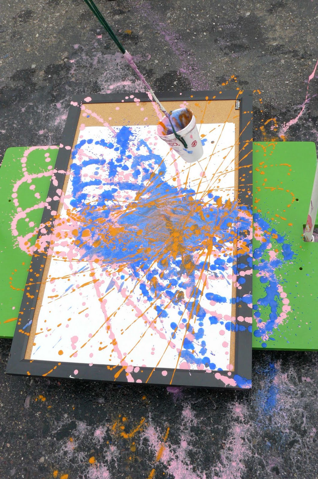 Child Central Station Pendulum Painting