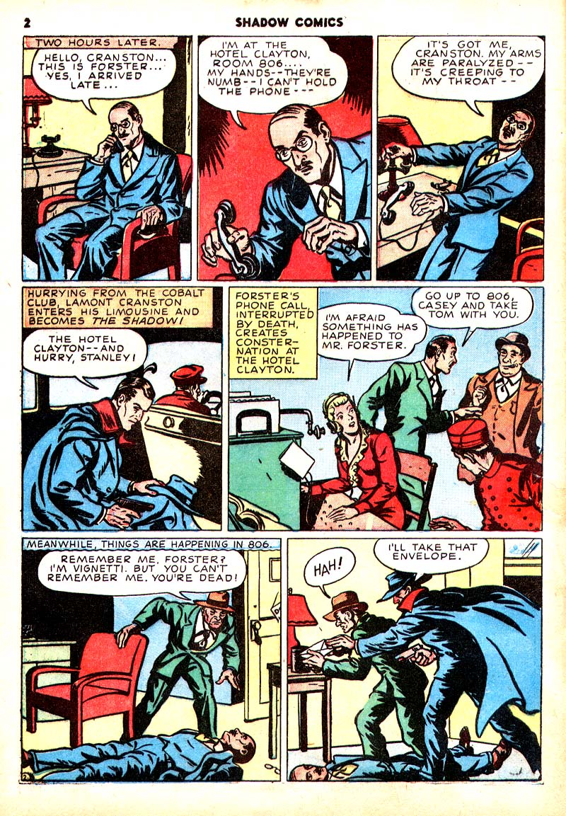 Read online Shadow Comics comic -  Issue #7 - 3