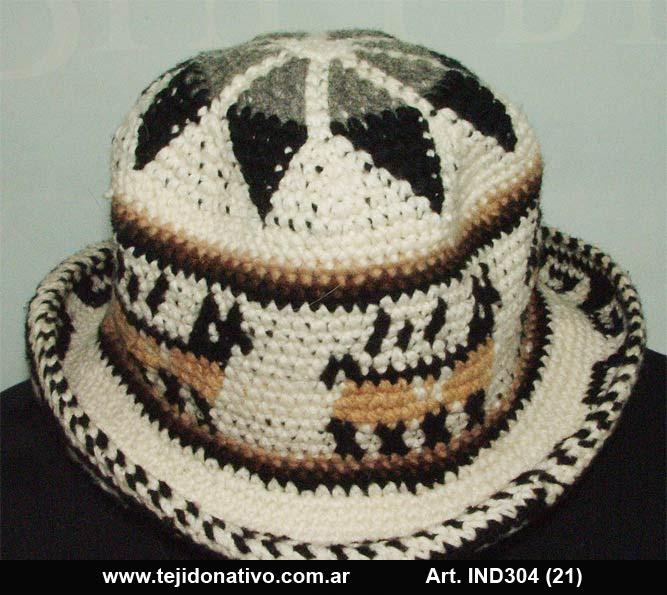 Tejido Nativo  Sombreros tejidos artesanalmente a crochet con lana ... bfc8aa89d40