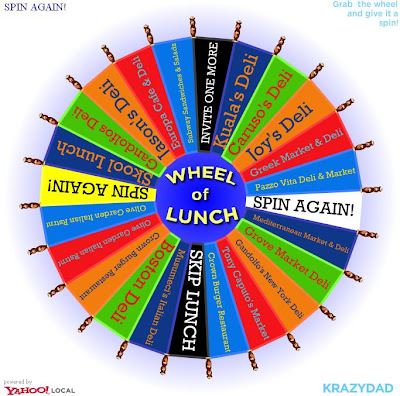 jake of the web the wheel of lunch now the wheel can decide