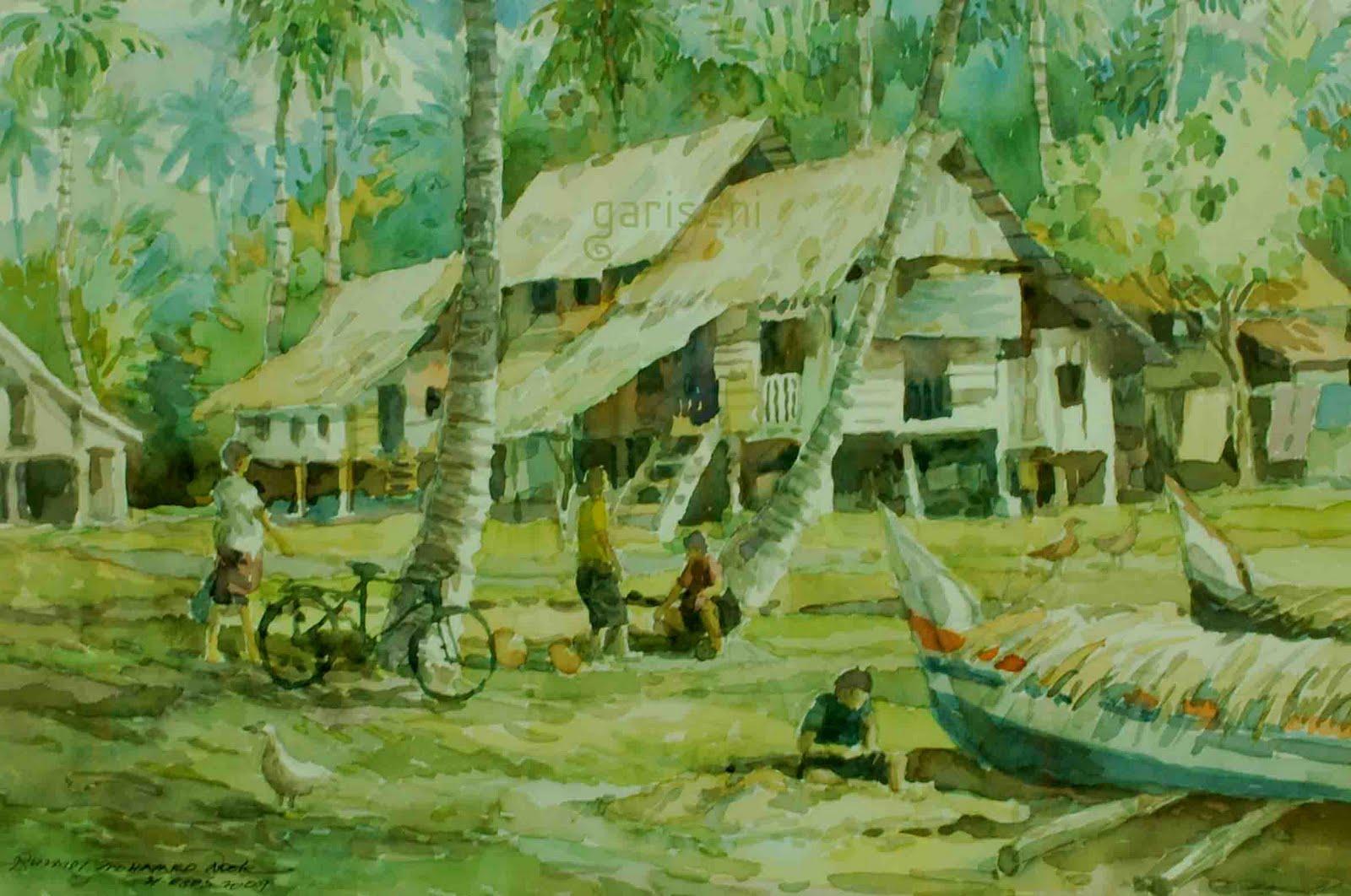 gambar pemandangan kampung - photo #5