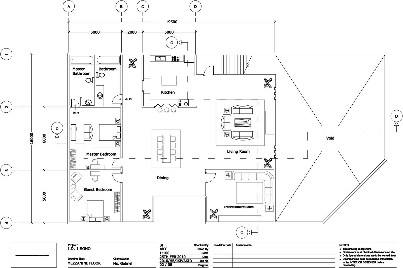 Free Office Floor Plan: Quantum1980: Interior Design 1 : SoHo (Small Office Home