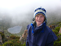 Alex on Hartz Peak, with Emily Tarn behind - 3 Feb 2007