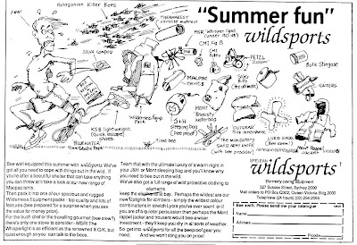 Summer Fun - Wildsports advert from Action Outdoor Australia Magazine, Apr/May 1987