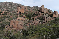 Granite outcrops at the Wineglass Bay Saddle - 19th September 2009