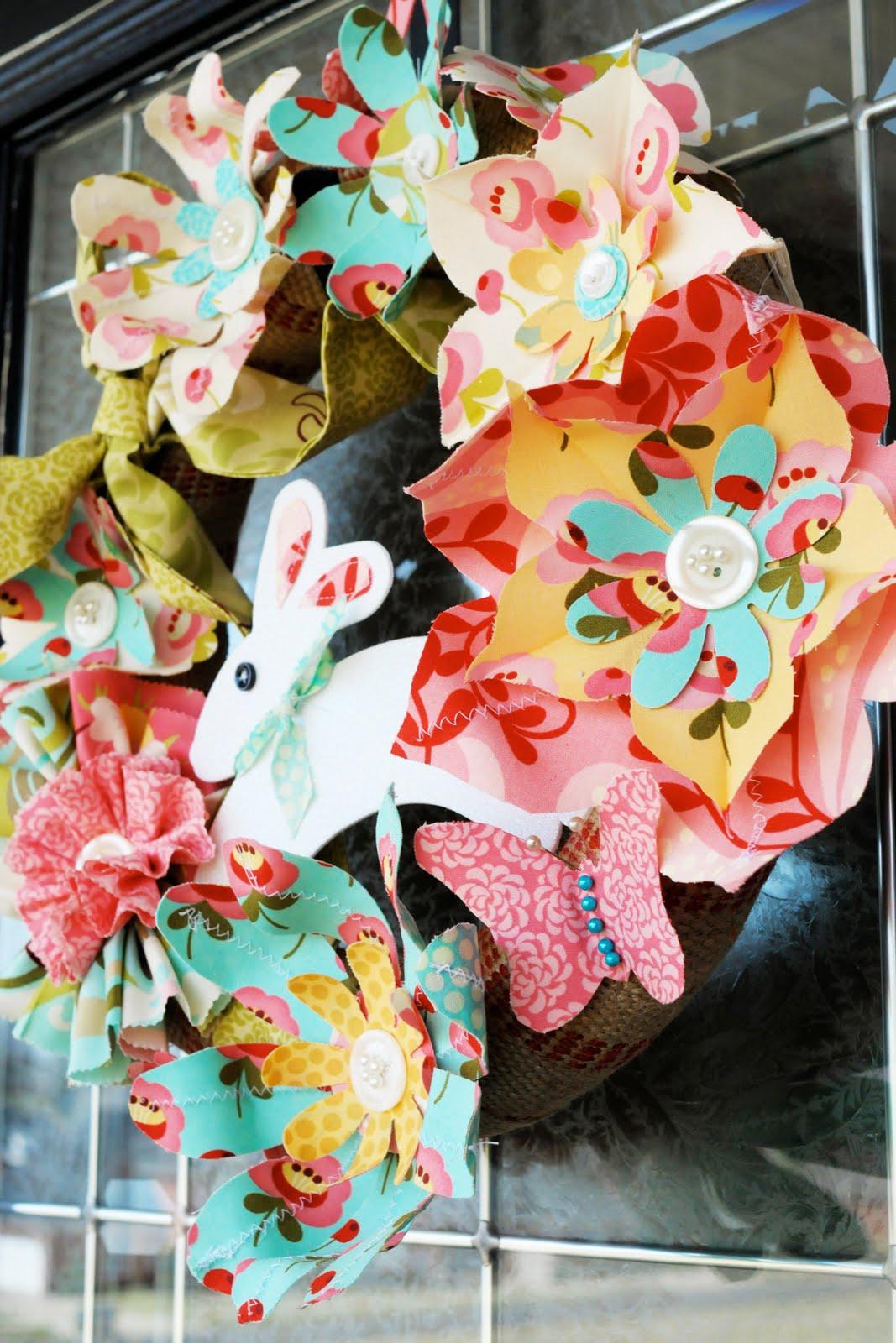 Tutorial: Spring Flowers Easter Wreaths