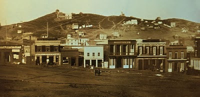 Photo of Portsmouth Square in San Francisco in 1851 from Wikimedia Commons