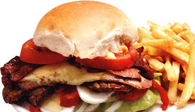 Uruguayan Food Beef Chivito a Sandwich of the Uruguay Cuisine