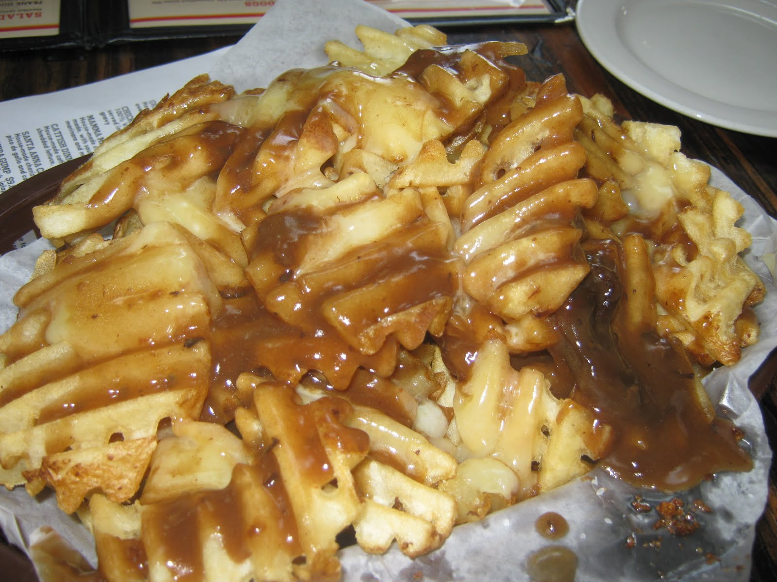 Easy Poutine - French Fries with Cheese Curds and Gravy ...   Canadian Cheese Fries And Gravy