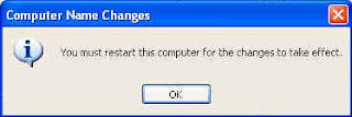You must restart this computer