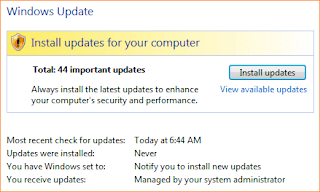 Install updates for your computer