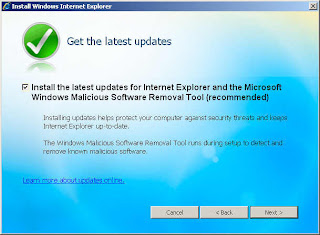 Update for Internet Explorer and Windows