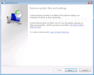 Restore system file and Settings
