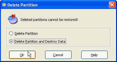 Delete Partition Option
