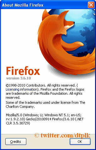 mozilla firefox 3.6.10