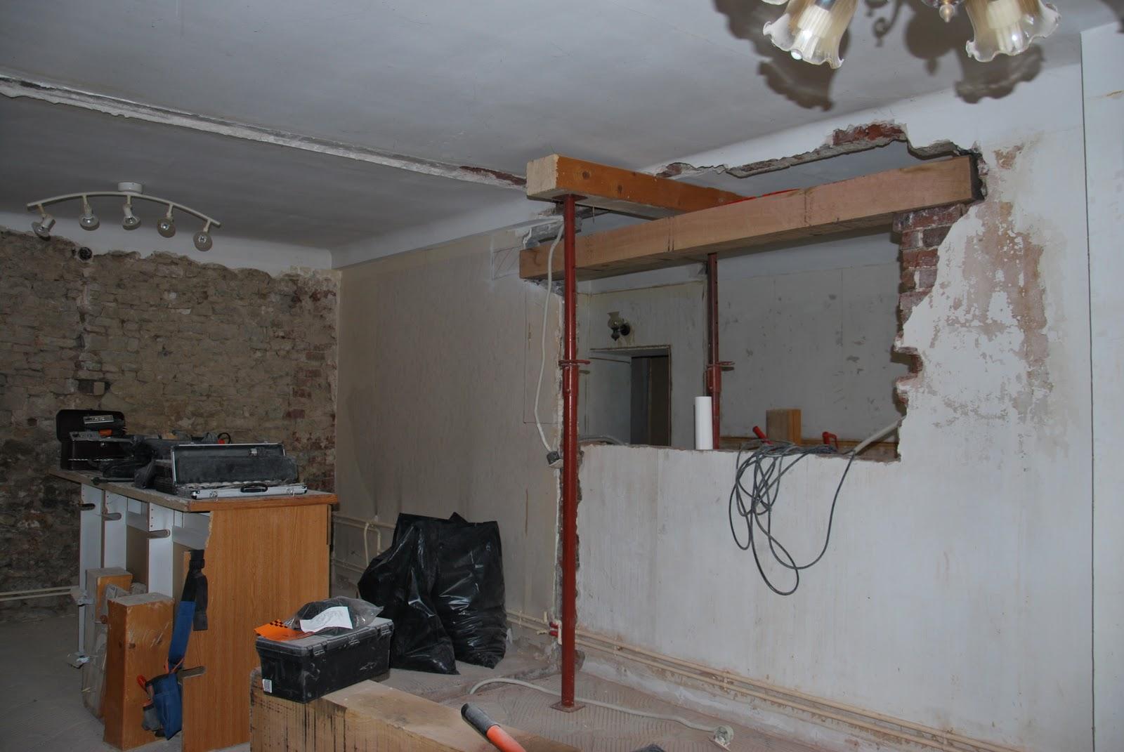la maison qu 39 est nous chantier 1 salon cuisine chauffage. Black Bedroom Furniture Sets. Home Design Ideas