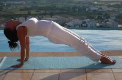 yoga relax easy pose  purvottanasana