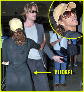 Halle Berry  And Her Exposed Thong Held Back Her Model Boyfriend Gabriel Aubry  From Getting Into A Major Scuffle With Paparazzi At Lax Airport On