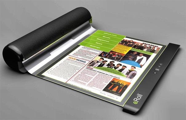 Konsep eRoll E-book Layar OLED