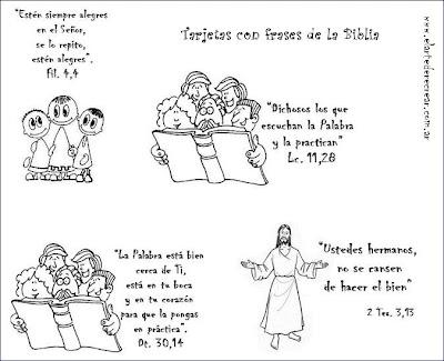 Ninos Dibujos Cristianos Para Colorear Con Textos Biblicos