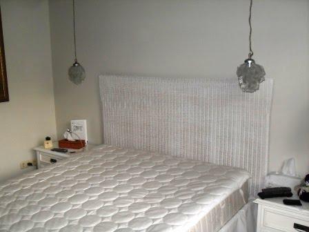 Hasır Yatak Başlıkları Beyaz Rattan Wicker Yatak Başı