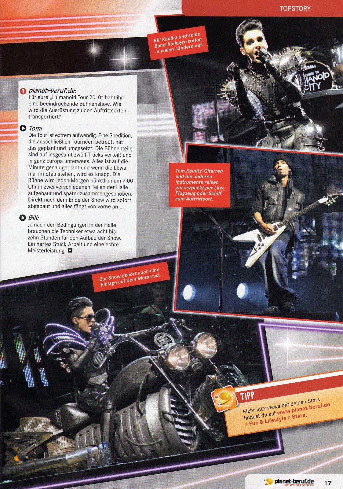 TOM KAULITZ: planet-beruf.de-Magazin #06 November 2010 ...  TOM KAULITZ: pl...
