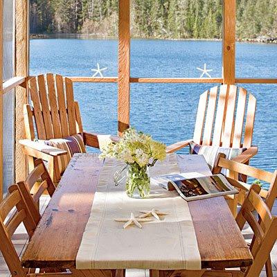 Una casa al mare shabby chic interiors for Idee di veranda posteriore per case in stile ranch