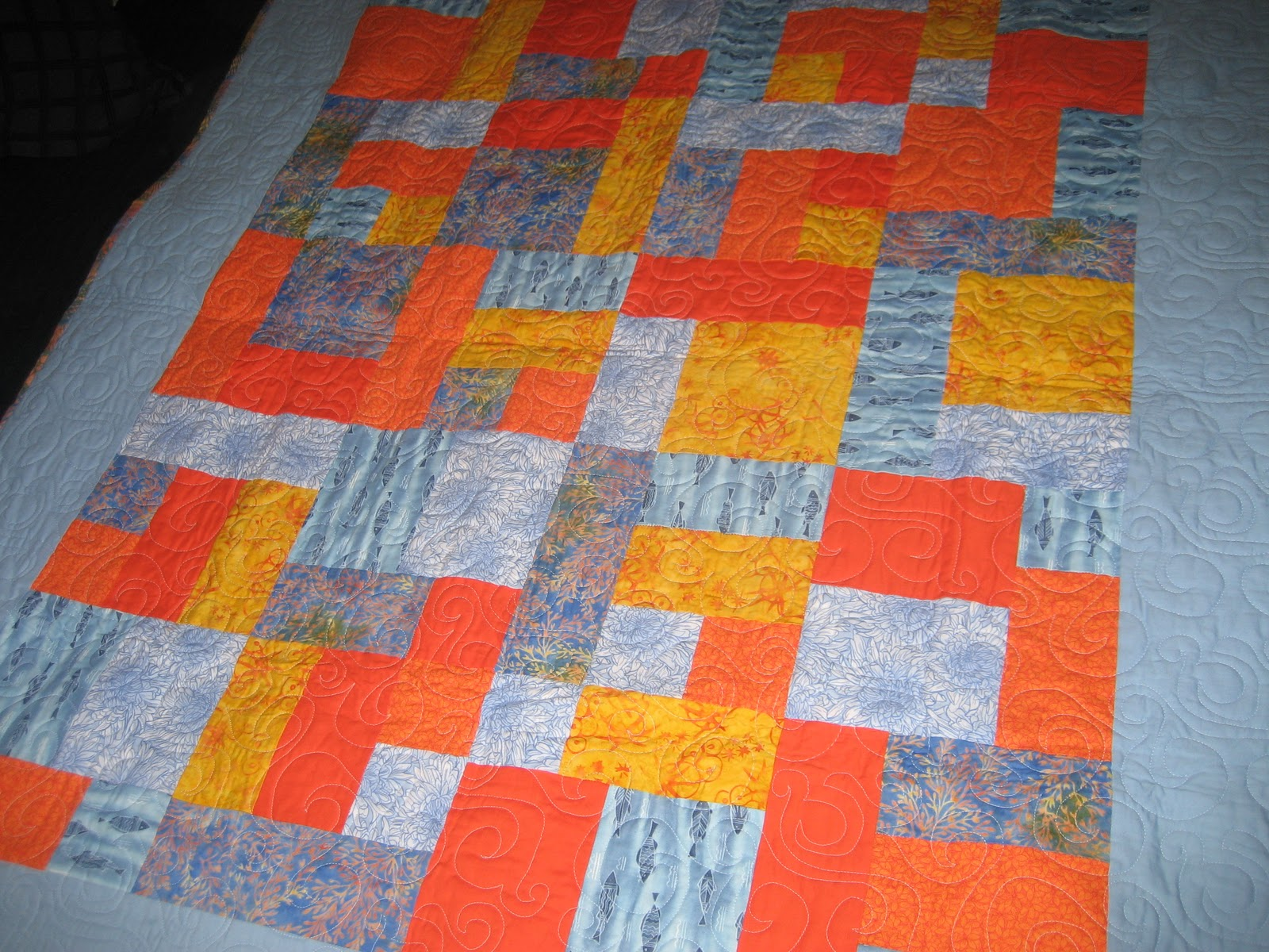 I Did The Piecing For Quilt Top And My Aunt Cindy Quilting Me On Her Long Arm Machine